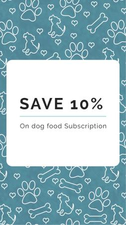 Designvorlage Dog Food Subscription Discount Offer für Instagram Story