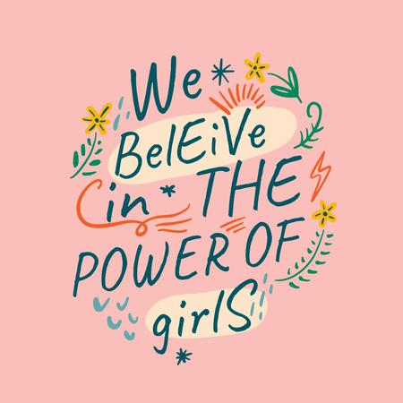 Girl Power Inspiration on pink Instagram Design Template