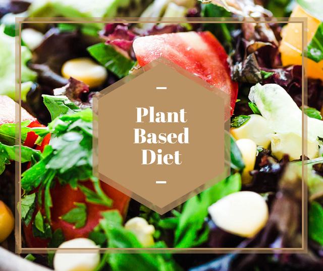 Plant based diet Vegetable salad Facebook Tasarım Şablonu