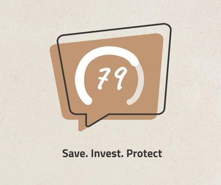 Designvorlage Business Investment concept für Facebook