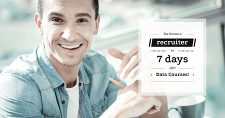 Advertisement banner for data courses Facebook ADデザインテンプレート