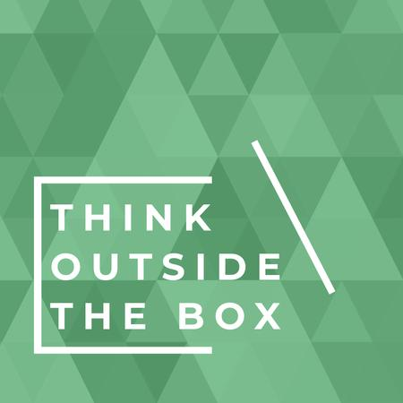 Plantilla de diseño de Think Outside the Box Citation Instagram