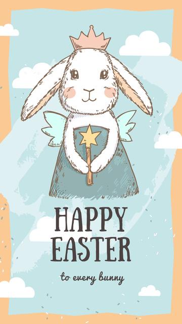 Cute Easter bunny Instagram Story tervezősablon