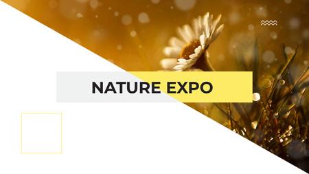 Plantilla de diseño de Nature Expo Announcement with Blooming Daisy Flower Youtube