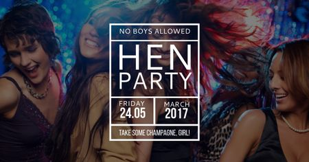 Hen party Girls in Nightclub Facebook AD – шаблон для дизайну