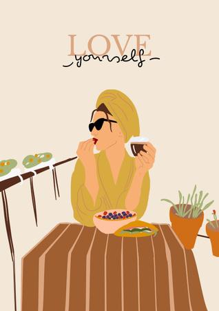 Girl Power Inspiration with Stylish Woman Poster – шаблон для дизайну