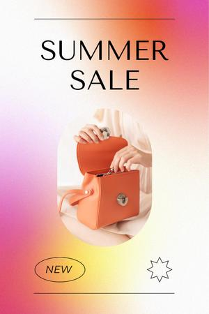 Summer Sale Ad with Stylish Female Bag Pinterest Design Template