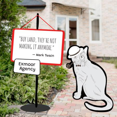 Template di design Real Estate Offer with Funny Gentleman Cat Instagram