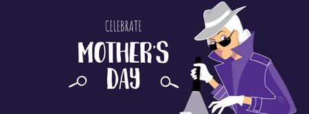 Mother's Day Celebration with Mother Detective Facebook cover Design Template