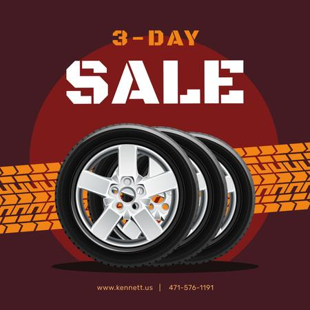 Set of Car Tires for sale Instagram ADデザインテンプレート