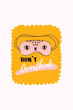 Mental Health Inspiration with Cute Eye Mask Pinterest Design Template