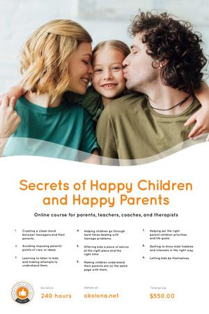 Plantilla de diseño de Parenthood Courses Ad with Parents and Daughter Pinterest
