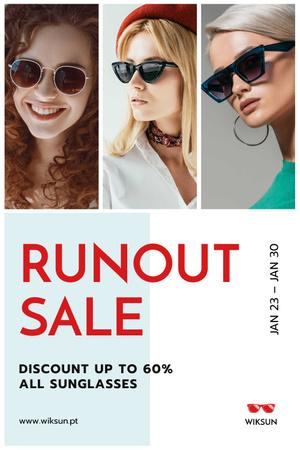 Modèle de visuel Glasses Offer with Women Wearing Sunglasses - Pinterest