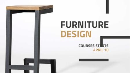 Ontwerpsjabloon van FB event cover van Furniture Design Offer with Modern Chair