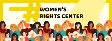 Women's Rights Center Services Offer Facebook cover Modelo de Design
