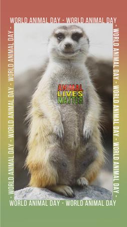 Modèle de visuel Coverage of Animals Protection Social Issue - Instagram Video Story