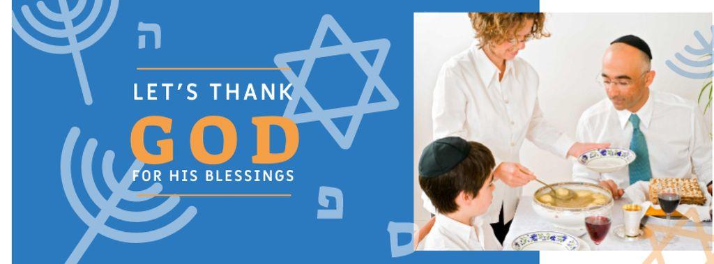 Hanukkah Celebration with Traditional Dinner Facebook cover – шаблон для дизайна