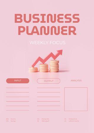 Business Planner with Growing Arrow Schedule Planner – шаблон для дизайна