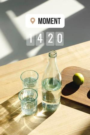 Pears and Glass of Water in Bed Pinterest Tasarım Şablonu