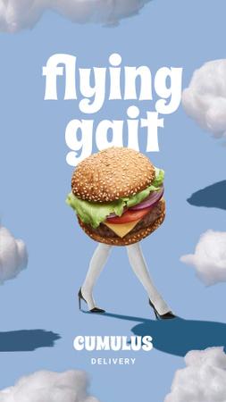 Designvorlage Funny Ad of Food Delivery für Instagram Story