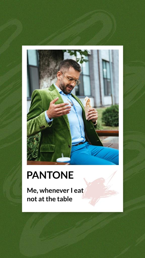 Modèle de visuel Funny Joke with Stylish Man in Dirty Shirt - Instagram Story