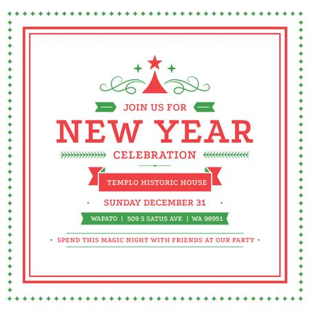 Plantilla de diseño de Christmas party invitation with Tree and frame Instagram AD
