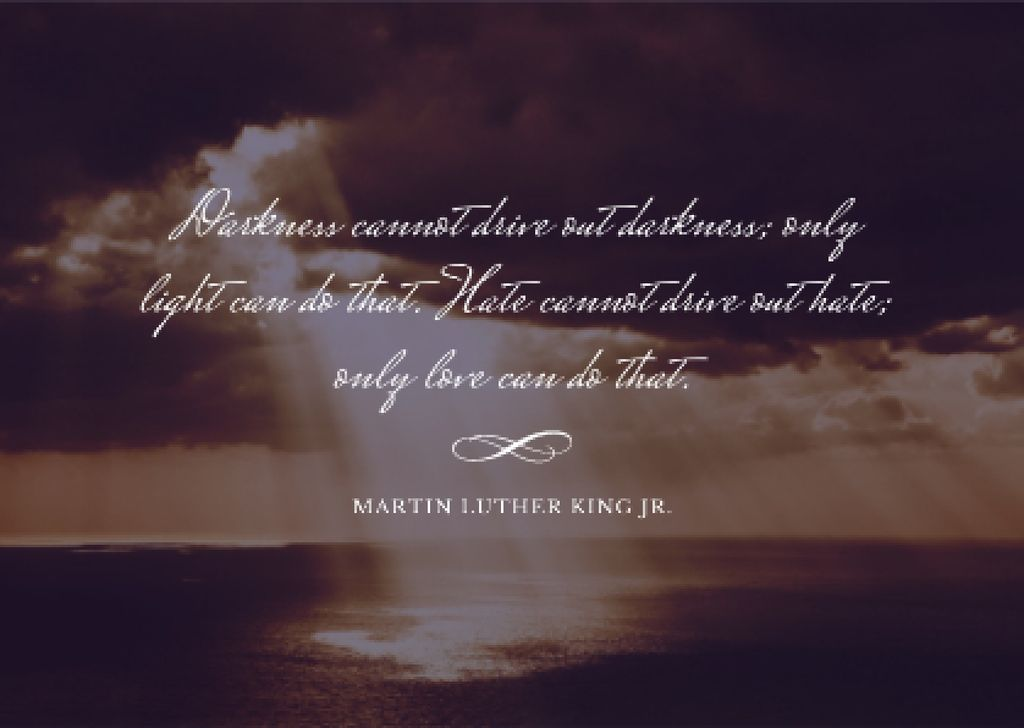 Martin Luther King day Announcement — Crear un diseño