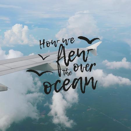 Inspirational Travelling Phrase with Plane in Clouds Animated Post – шаблон для дизайну