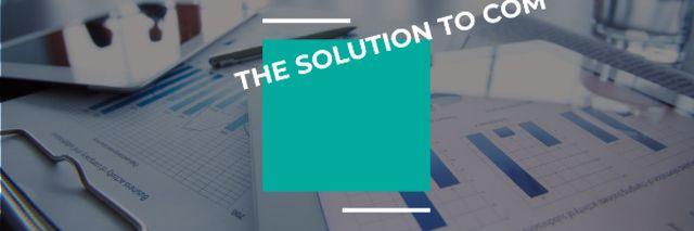 Modèle de visuel Motivational Quote against table with Business Papers - Email header