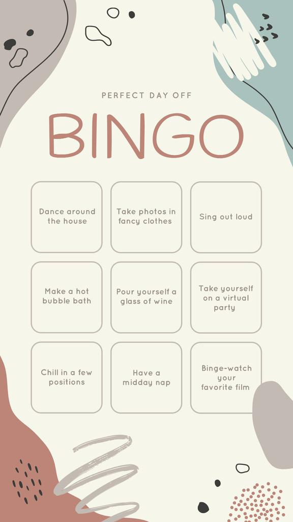 Bingo list for Perfect Day Instagram Story – шаблон для дизайна