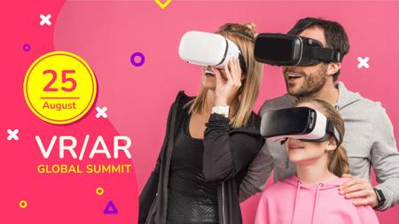 Szablon projektu Family using Virtual Reality Glasses FB event cover
