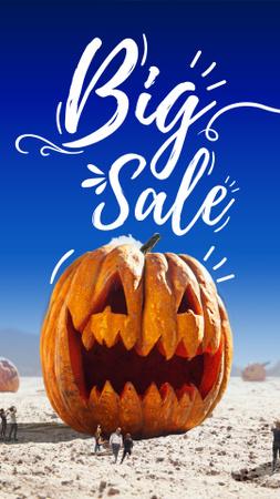 Modèle de visuel Sale Announcement with Huge Halloween Pumpkin - Instagram Story