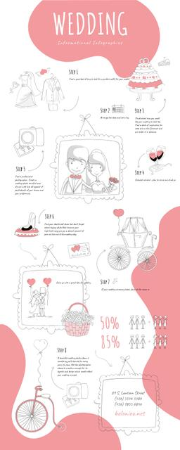 Template di design Informational infographics about Wedding Infographic