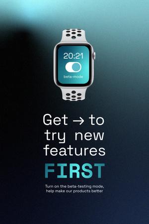 Modèle de visuel Smart Watches Startup Idea Ad - Pinterest