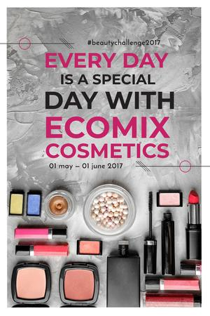 Plantilla de diseño de Cosmetics Set Offer Pinterest