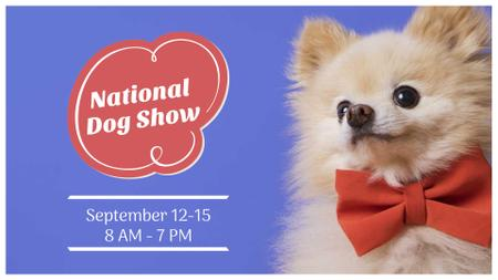 Dog Show announcement with cute Pet FB event cover – шаблон для дизайну