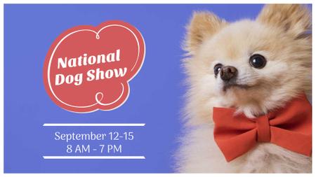 Ontwerpsjabloon van FB event cover van Dog Show announcement with cute Pet