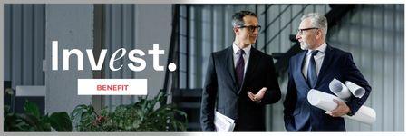 Modèle de visuel Confident Businessmen for Investment concept - Twitter