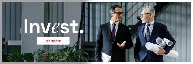 Confident Businessmen for Investment concept Twitter – шаблон для дизайну