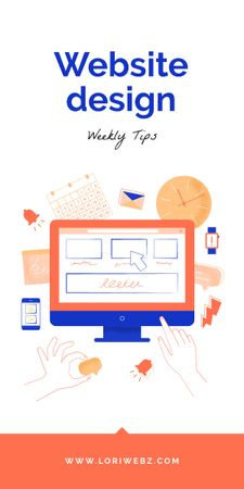 Web Design Tips Graphic Modelo de Design