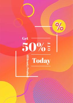 Beauty Products Sale on Minimalistic geometric pattern