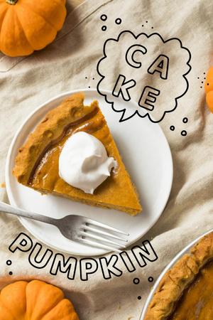 Modèle de visuel Delicious Pumpkin Cake on Plate - Pinterest