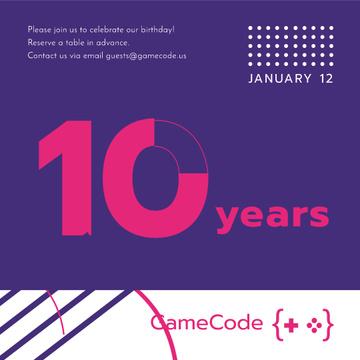 Anniversary event Announcement on Purple