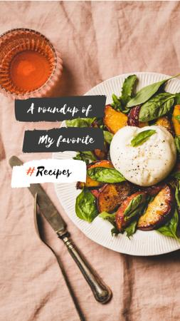 Delicious fresh Salad Instagram Story Design Template