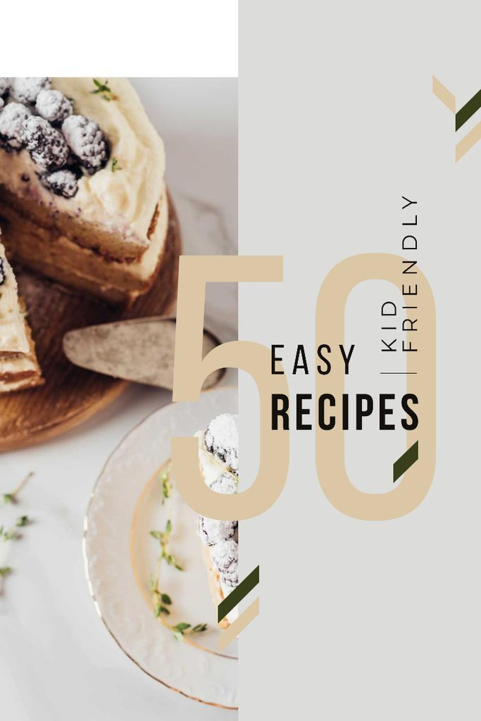 Plantilla de diseño de Bakery Recipes with Sweet Cake with Berries Pinterest