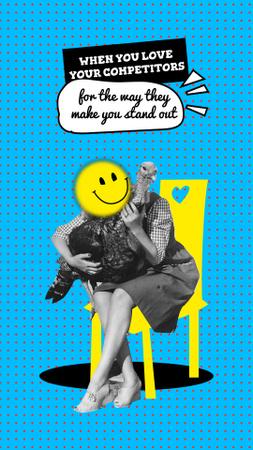 Designvorlage Joke about competitors with funny Bird für Instagram Video Story