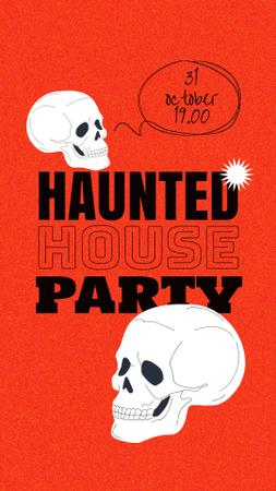 Template di design Halloween Party Announcement with Skulls Instagram Story