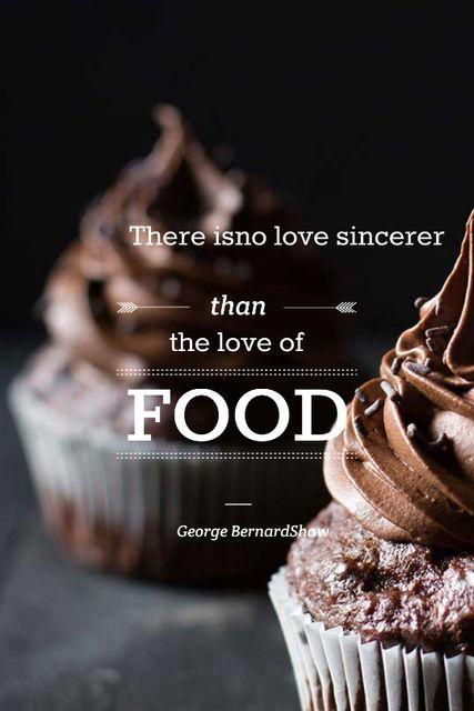 Delicious chocolate Cupcakes Tumblr Design Template