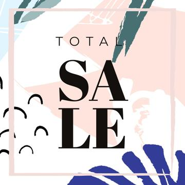 Sale announcement on Leaves pattern