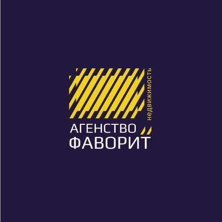 Construction Company Ad with Yellow Lines Texture Animated Logo – шаблон для дизайна